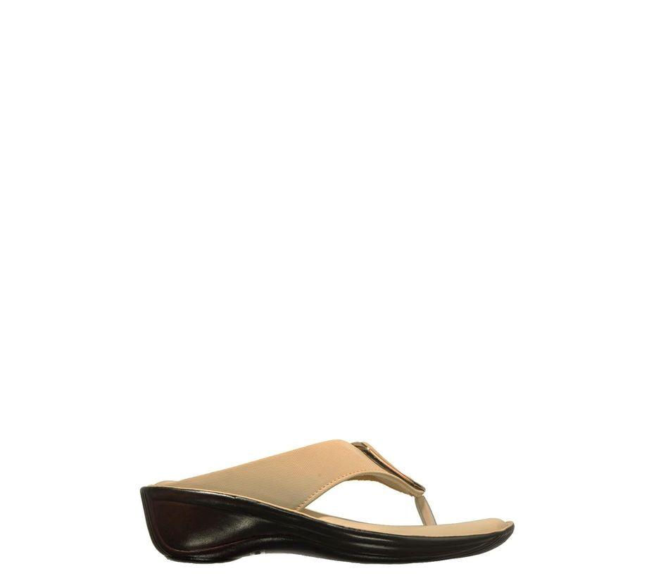 Khadim's Beige Casual Slip-On Sandal