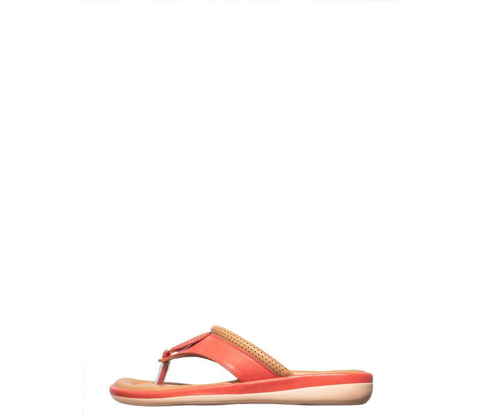 Khadim's Peach Casual Slip-On Sandal