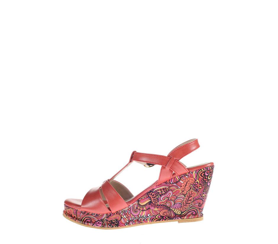 Cleo Red Lifestyle Heel Sandal