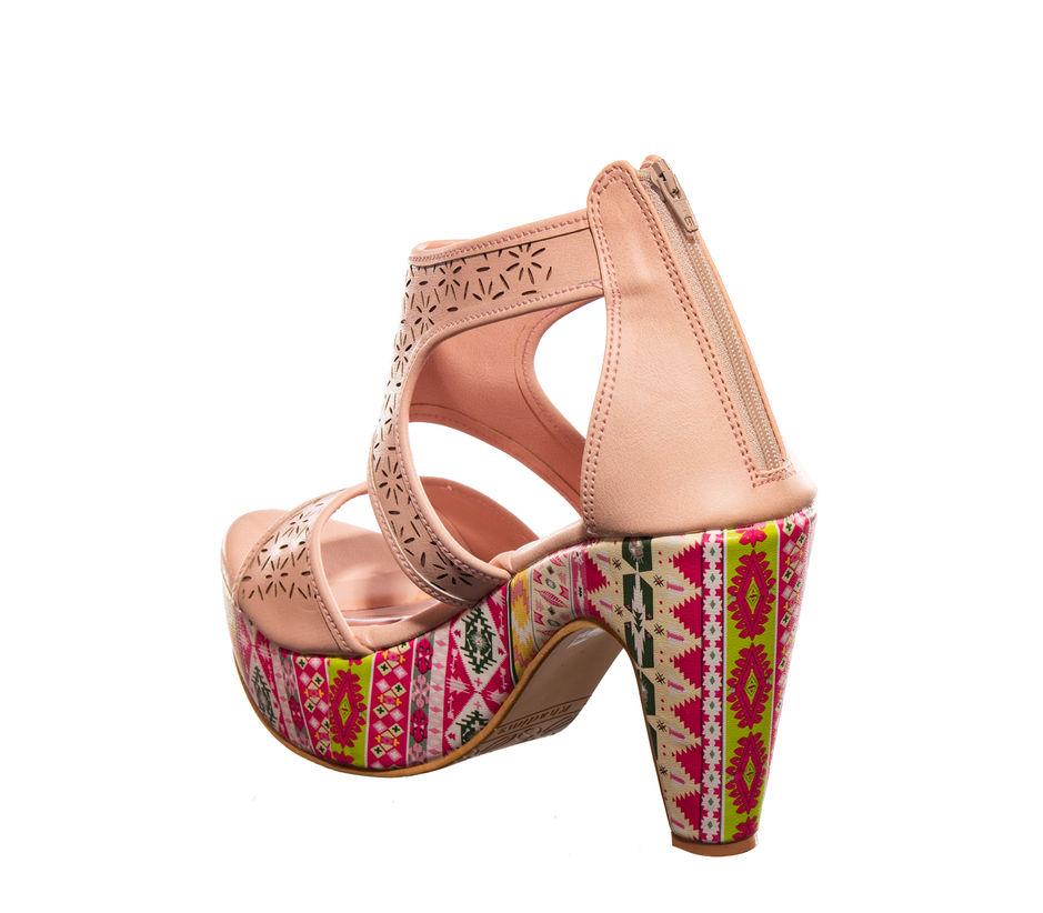 Cleo Pink Lifestyle Heel Sandal