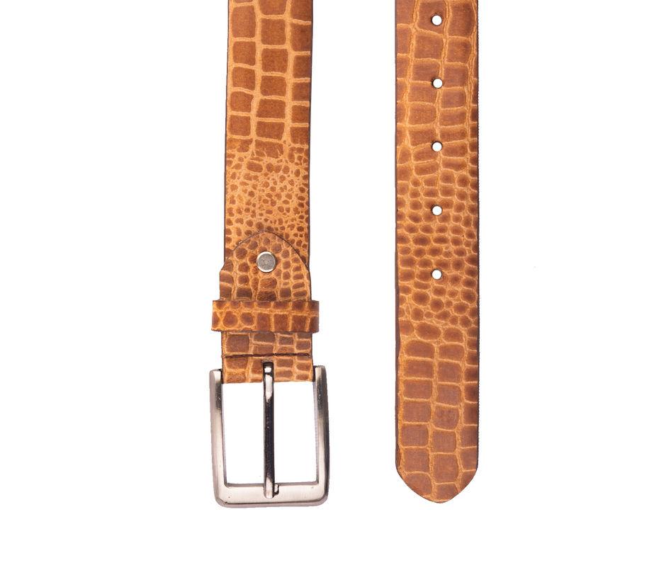 Khadim's Tan Casual Leather Belt