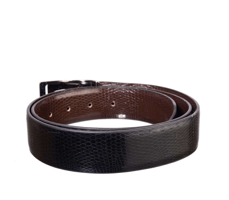 Khadim's Black Office Synthetic Belt