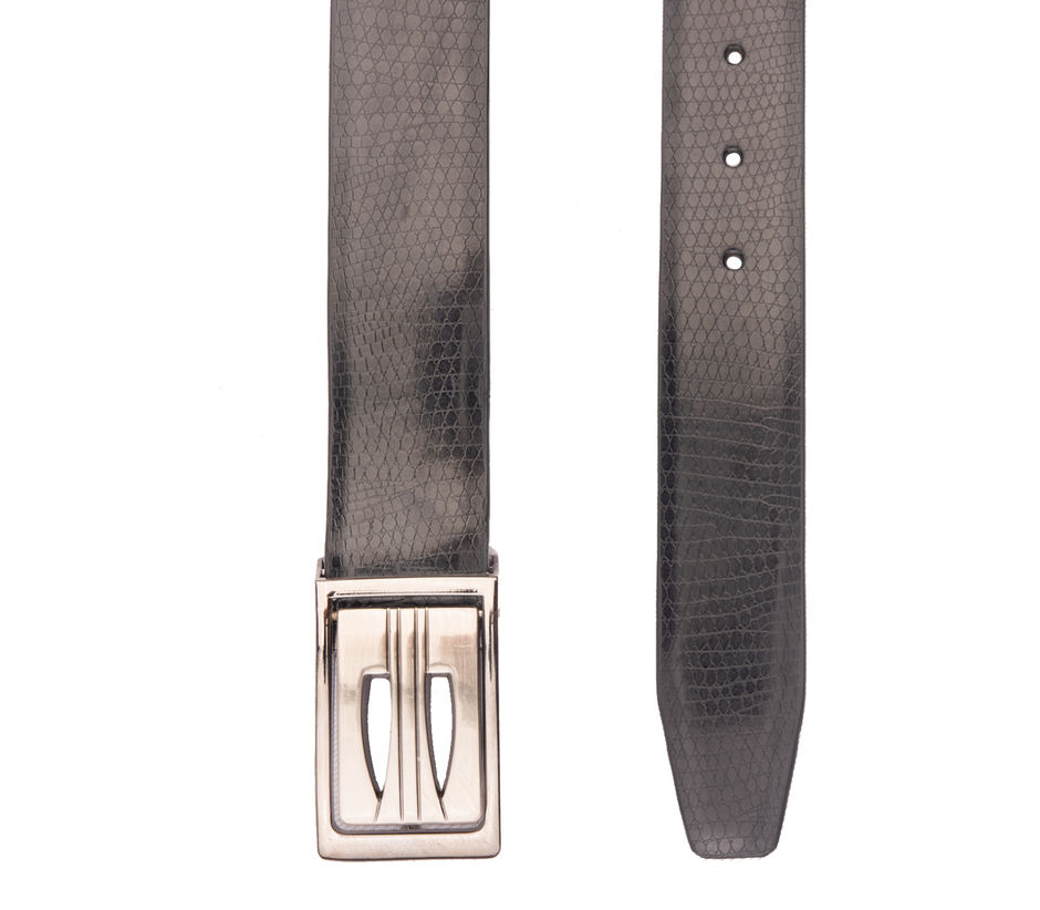 Khadim's Black Office Synthetic Belt