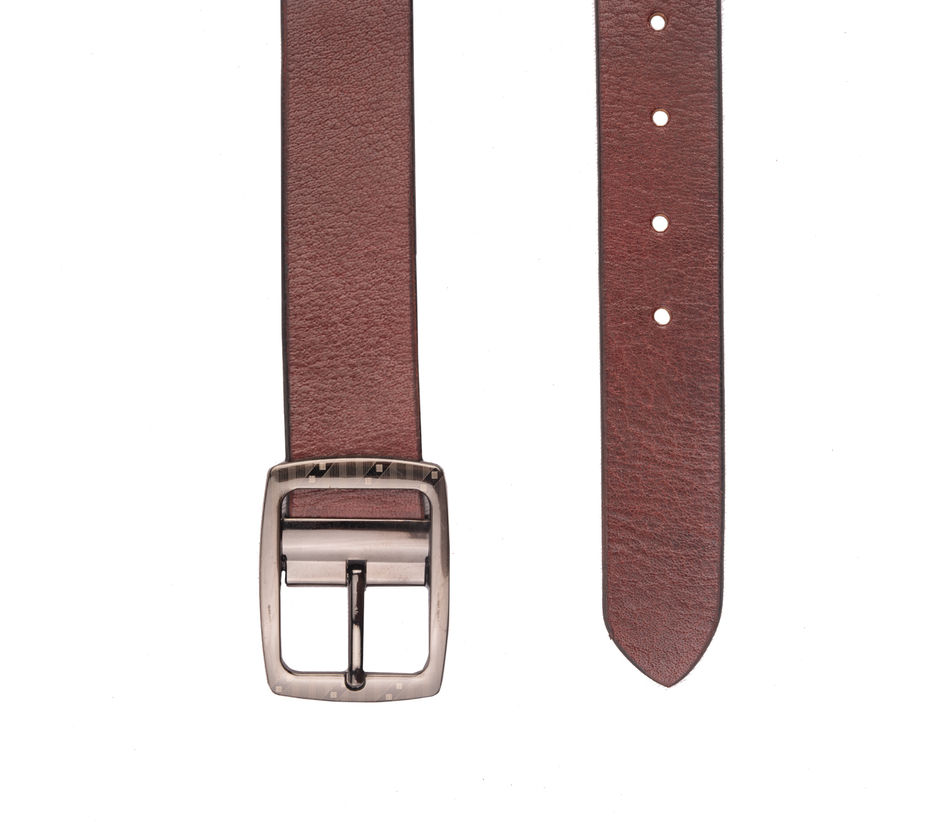 Khadim's Maroon Office Leather Belt
