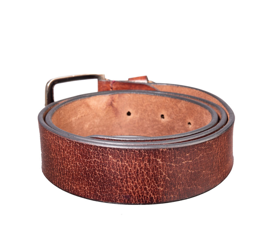 Khadim's Brown Casual Leather Belt