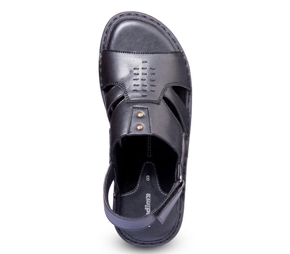 Khadim's Black Casual Strap-On Sandal