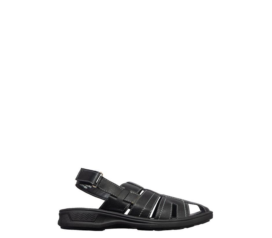 Khadim's Black Casual Fisherman Sandal