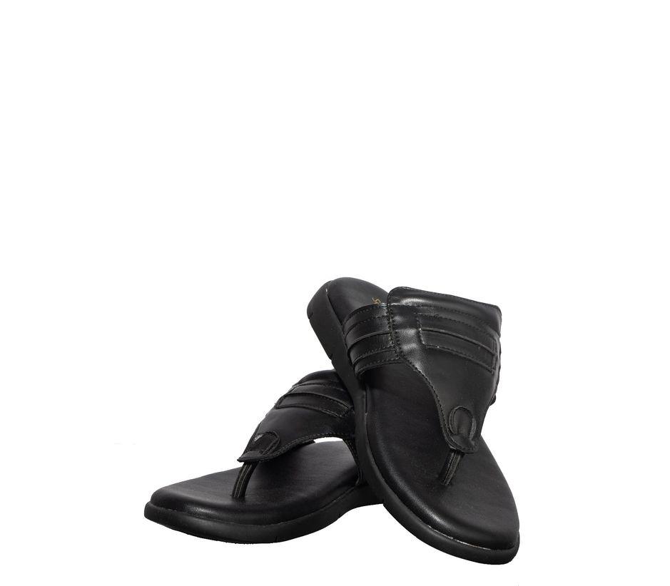 Softouch Men Black Casual Dress Slipper
