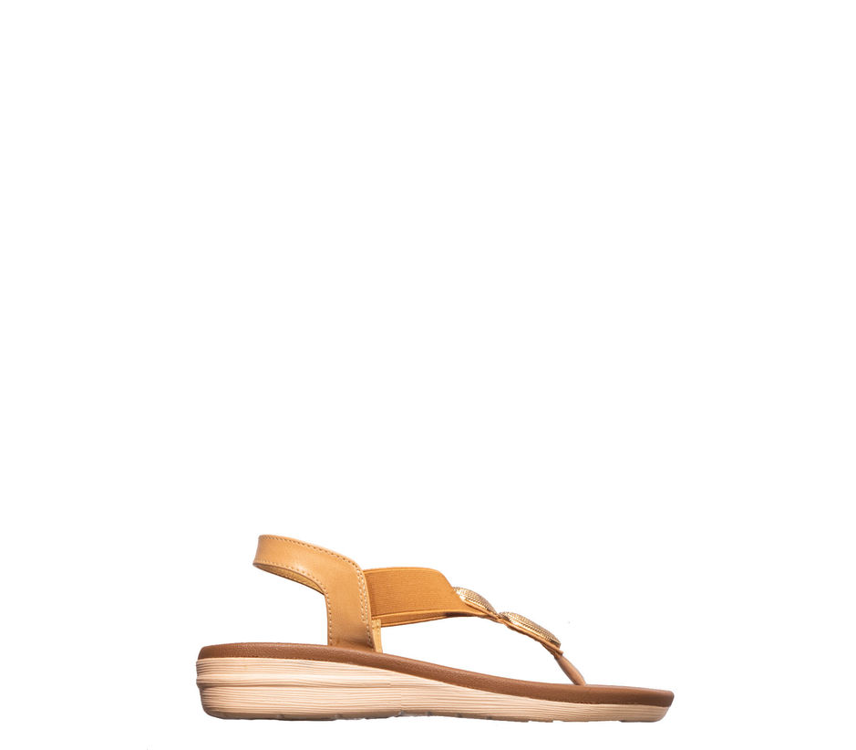 Cleo Tan Casual Strap-On Sandal