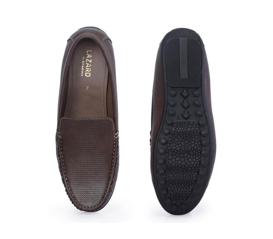 Lazard Men Brown Casual Slip-On Shoe