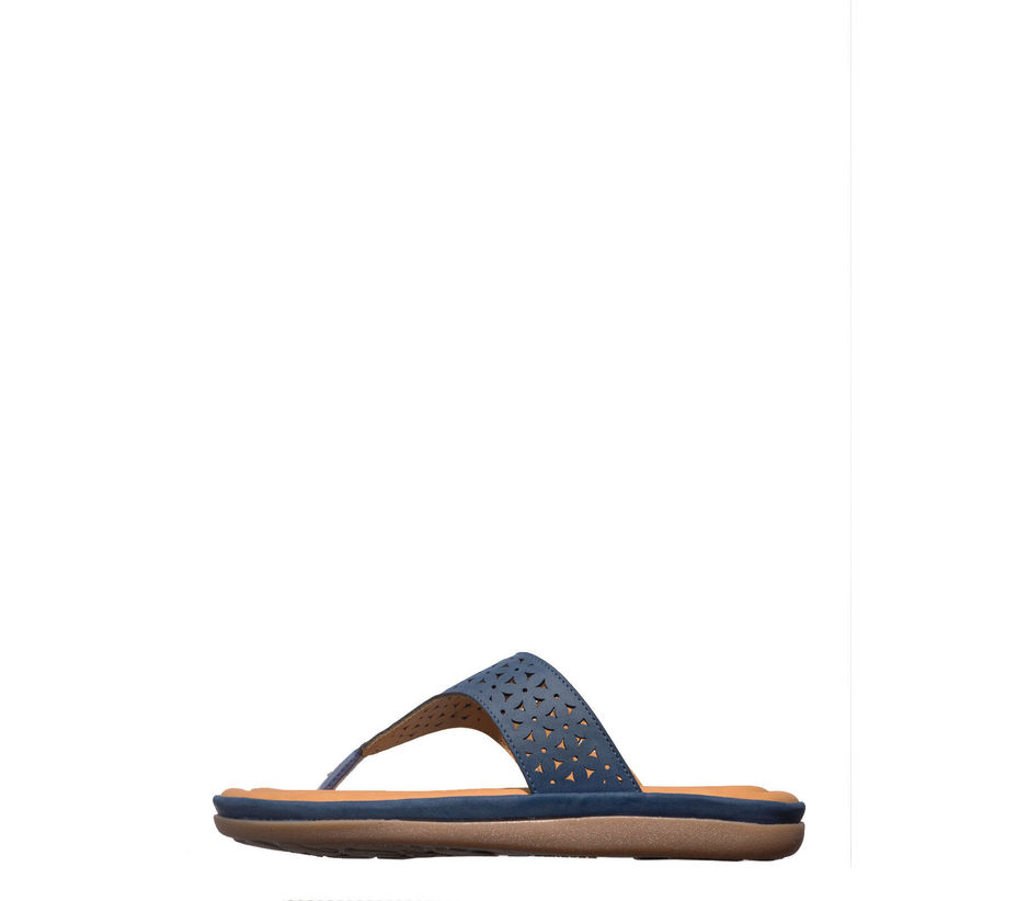 Softouch Navy Casual Flat Sandal