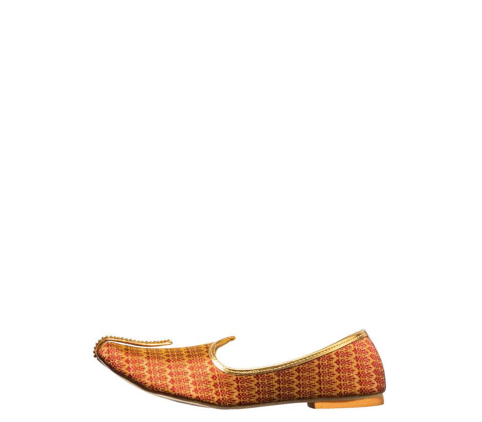 Khadim's Red Ethnic Mojri Shoe