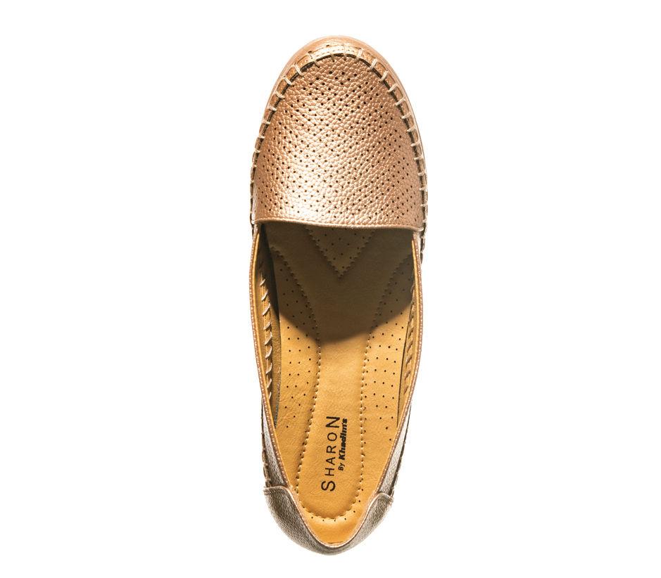 Sharon Rose Gold Casual Ballerina Shoe