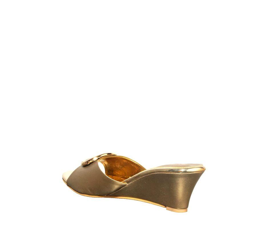 Khadim's Gold Lifestyle Mule Sandal