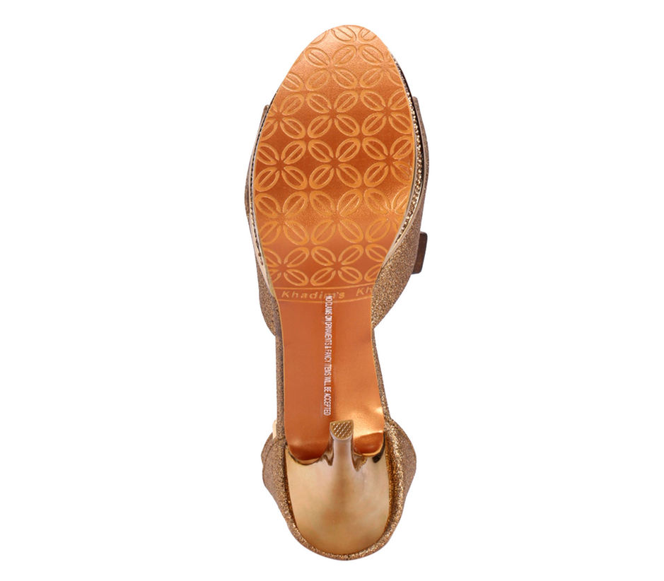 Khadim's Bronze Lifestyle Heel Sandal
