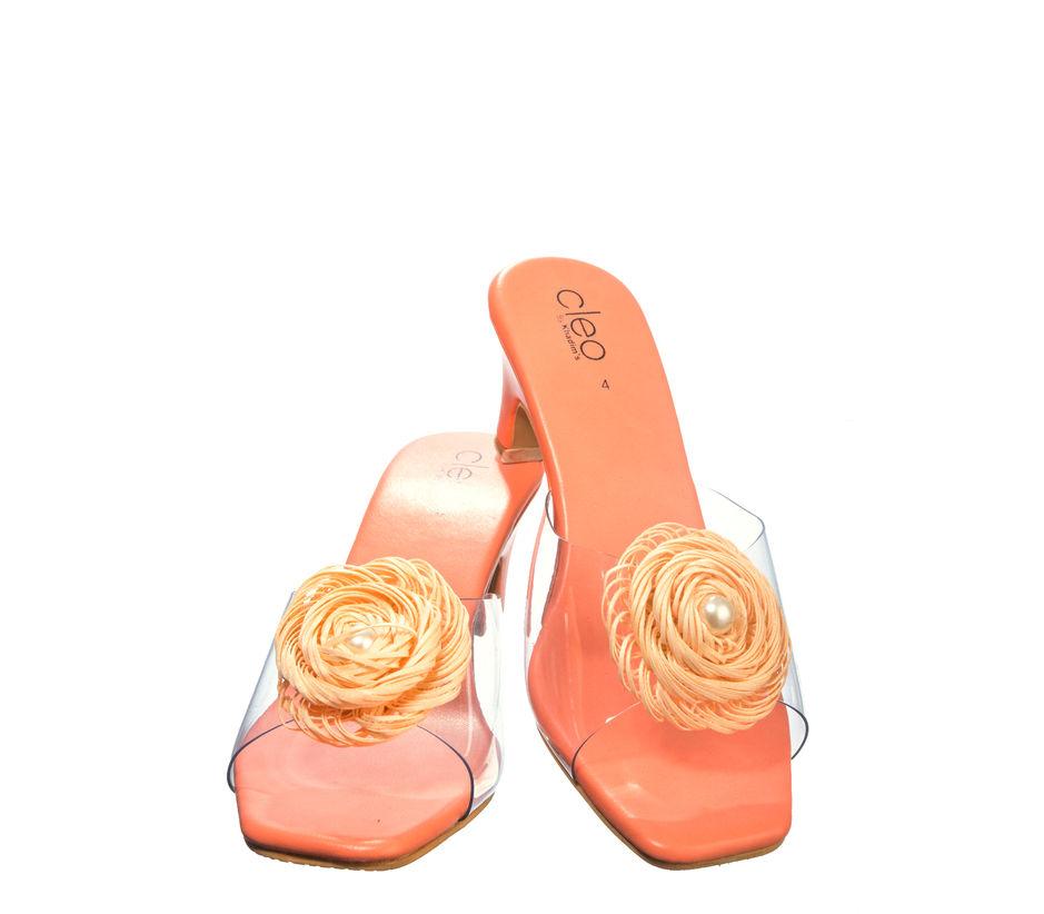 Cleo Peach Casual Heel Sandal