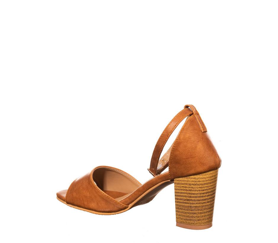 Cleo Brown Casual Heel Sandal