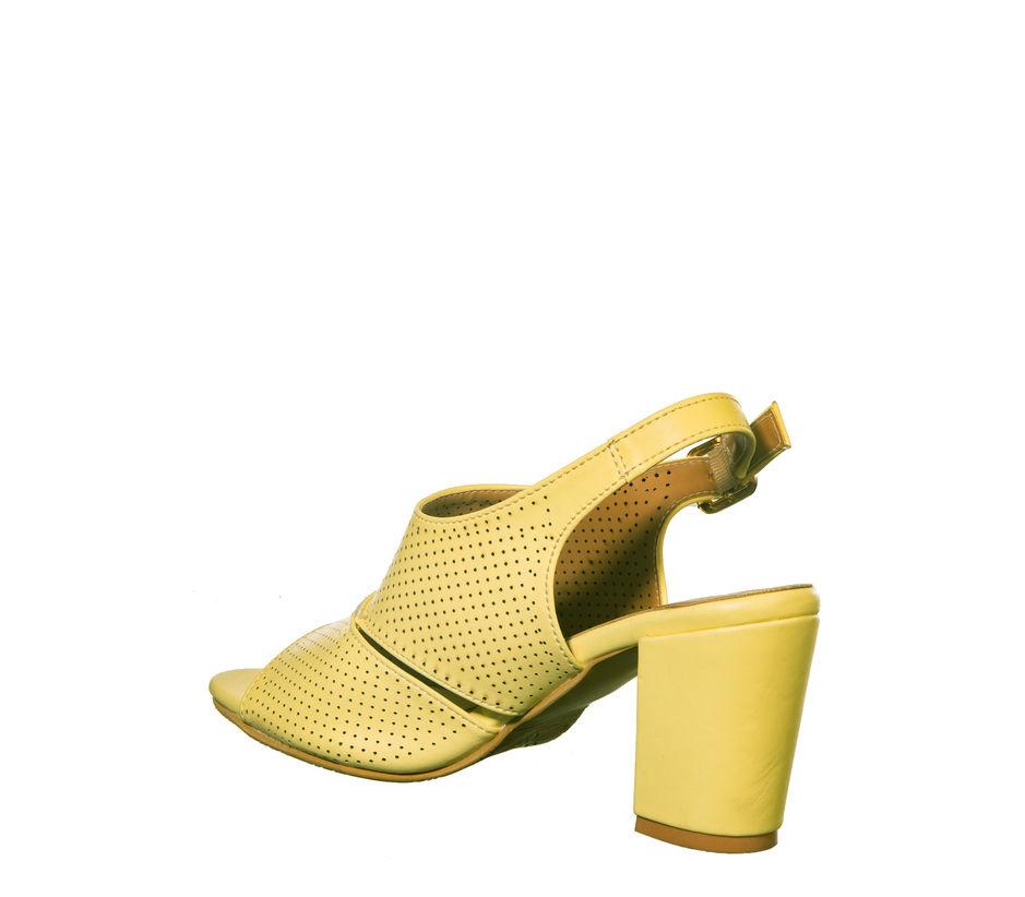 Cleo Yellow Casual Mule Sandal