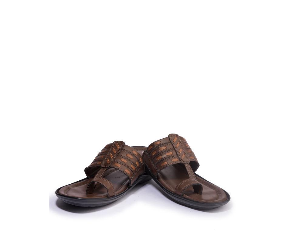 Khadim's Lazard Men Brown Ethnic Dress Sandal