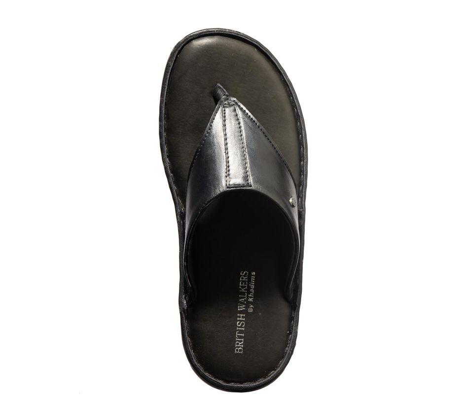 British Walkers Men Black Casual Slip-On Sandal