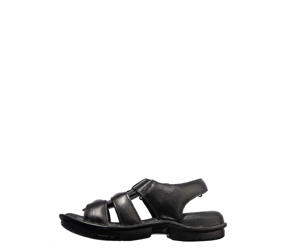 British Walkers Men Black Casual Mule Sandal