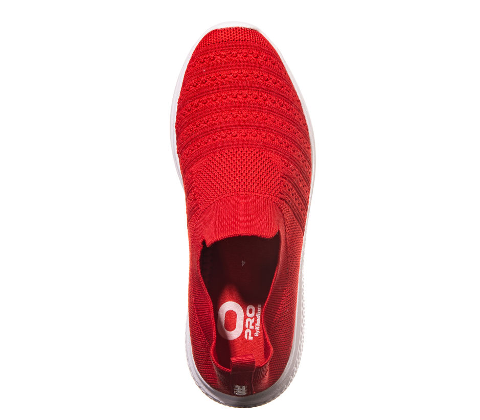 Pro Red Casual Slip-On Sneakers