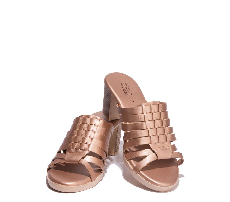 Cleo Bronze Lifestyle Heel Sandal