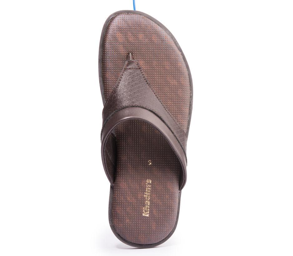 Khadim's Men Brown Casual Slip-On Sandal