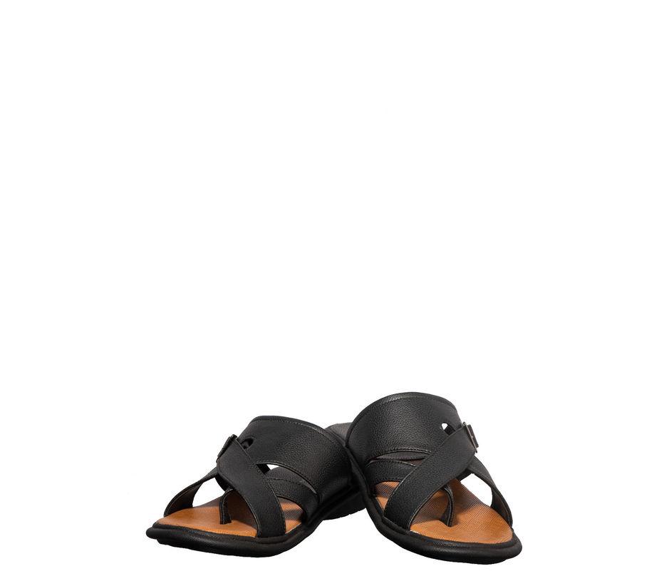Khadim's Black Casual Slip-On Sandal