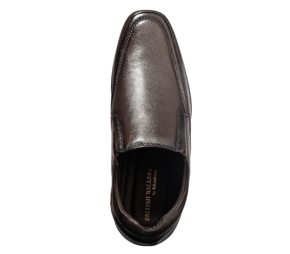 British Walkers Men Brown Formal Slip-On Shoe