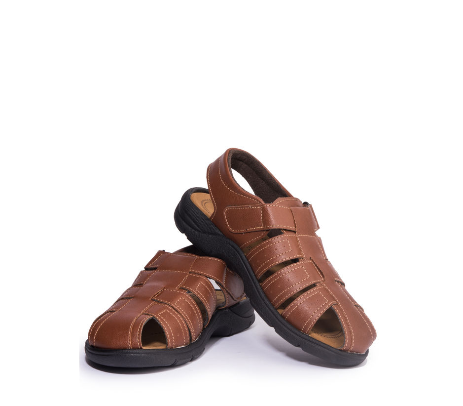 Khadim's Turk Men Brown Lifestyle Dress Sandal