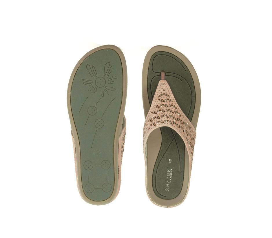 Sharon Peach Casual Slip-On Sandal