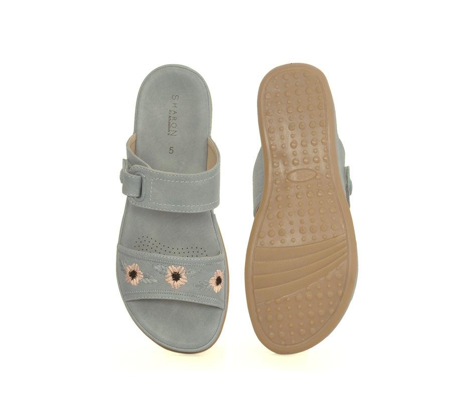 Sharon Grey Casual Strap-On Sandal