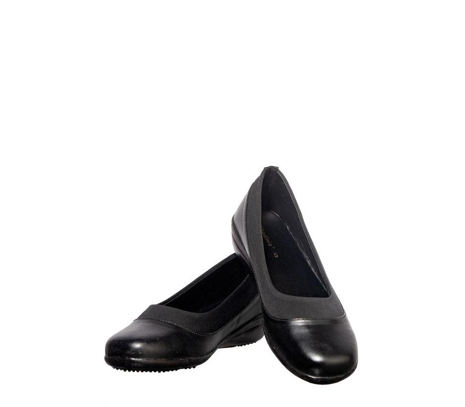 Khadim's Black Formal Ballerina Shoe