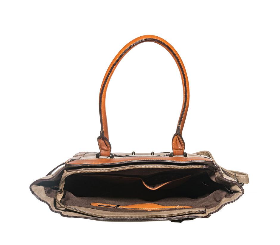 Khadim's Brown Tote Handbag