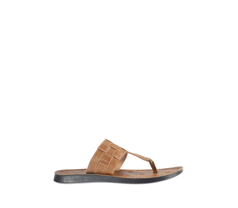 Khadim's Tan Casual Slip-On Sandal