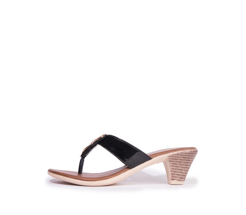 Khadim's Cleo Women Black Casual Heel Sandal