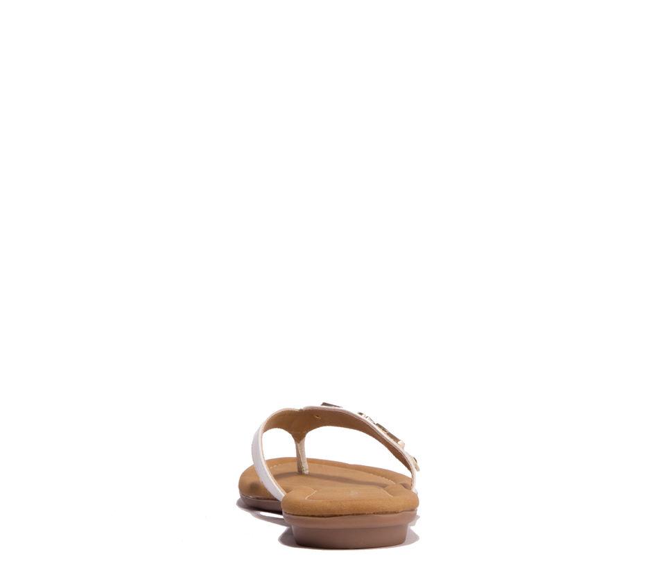 Khadim's White Casual Flat Sandal