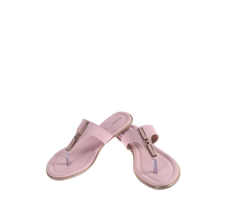 Khadim's Pink Casual Slip-On Sandal