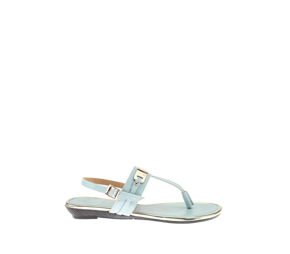 Cleo Blue Casual Flat Sandal