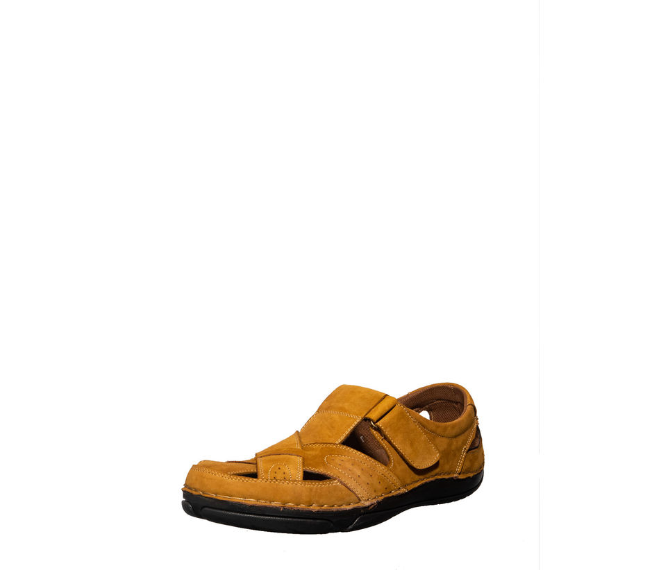 British Walkers Men Tan Lifestyle Dress Sandal