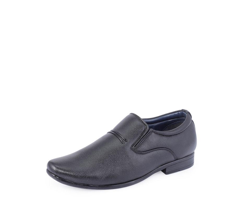 Khadim's Black Formal Slip-On Shoe