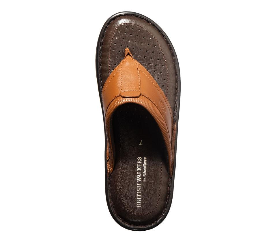 British Walkers Men Brown Casual Slip-On Sandal