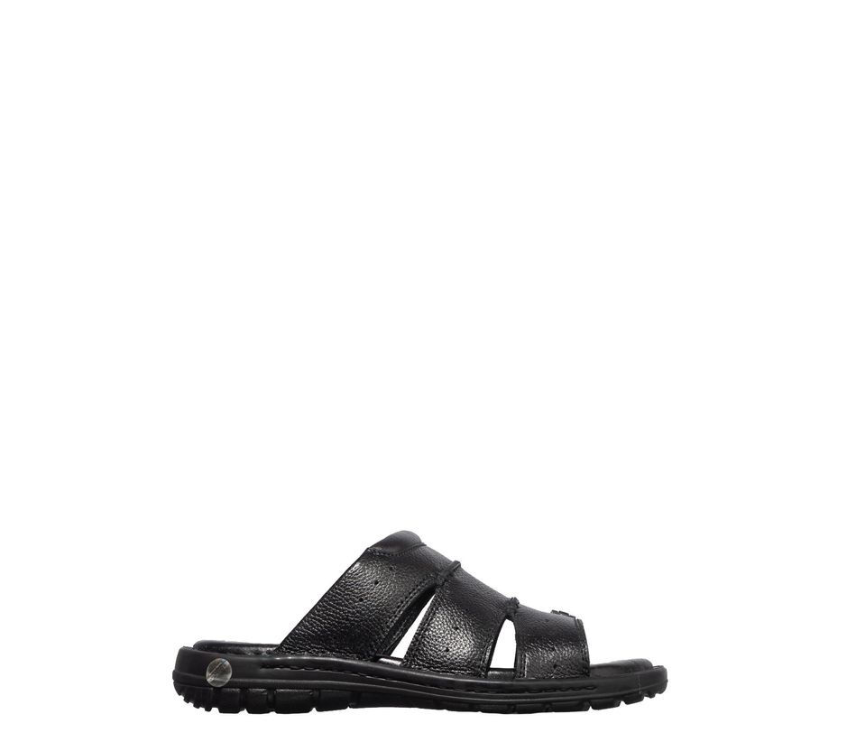 British Walkers Men Black Casual Mule Sandal