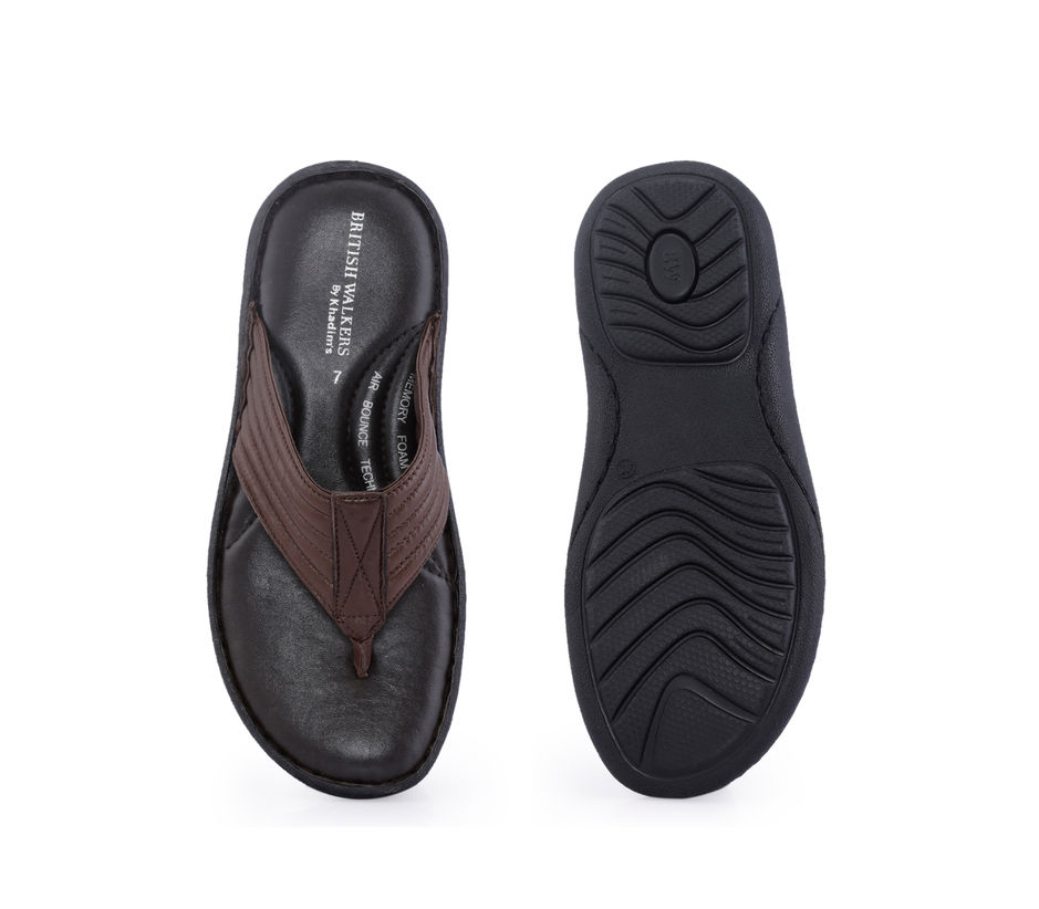 British Walkers Men Brown Casual Dress Slipper