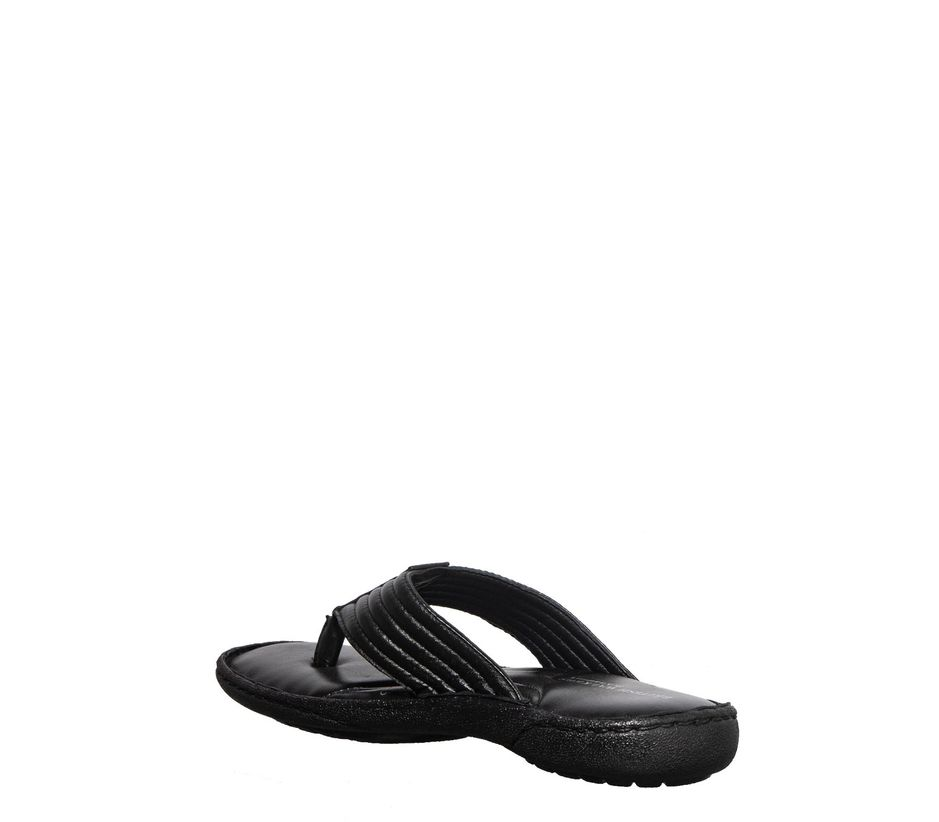 British Walkers Men Black Casual Dress Slipper