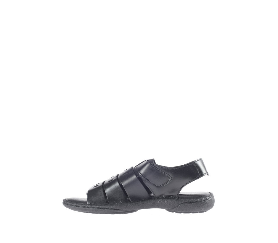 British Walkers Men Black Casual Sandal