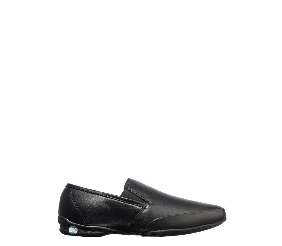 British Walkers Men Black Formal Slip-On Shoe