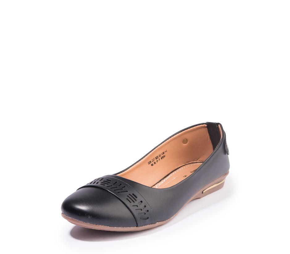 Khadim's Women Black Casual Ballerina Shoe