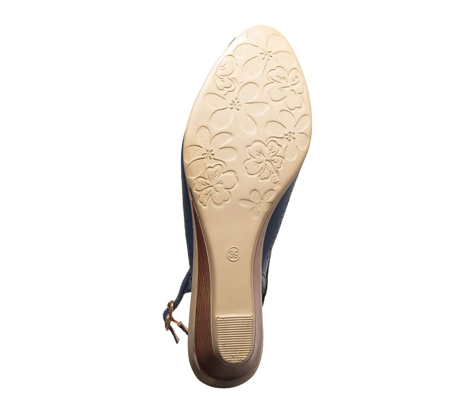 Sharon Navy Casual Strap-On Sandal